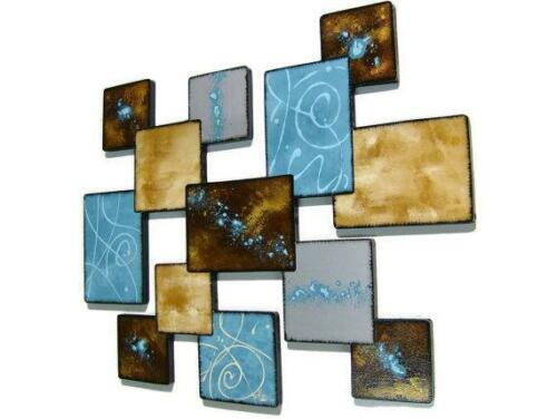 Lovely Laguna Wall Sculpture Turquoise wall decor SALE square wall hanging