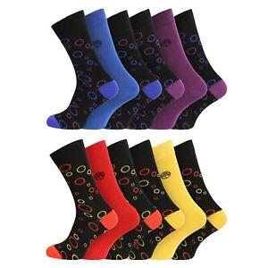 Mens 3 Pairs Super Soft Natural Bamboo Socks UK 7-11 EU 40-45 - Bubbles
