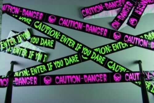 Halloween Banner Danger Tape 20ft Fancy Dress Party Room Decoration NEW P7306