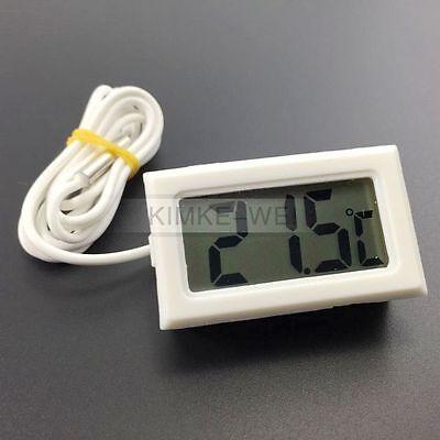 Mini LCD Digital Thermometer Temperaturmesser Temperatur Tester mit Sensor Weiß