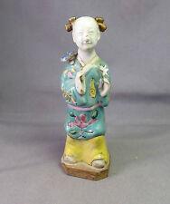 Chinesisch Antik 18./19. jahrhundert Famille Rose Court Figur Qianlong Export