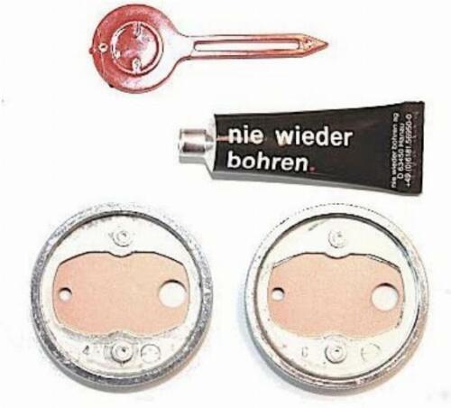 Nie Wieder Bohren BK20-2 Mounting adaptor self adhesive 2 Zamak Rings 38mm