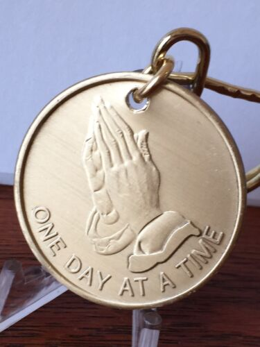 Praying Hands Serenity Prayer Key Chain Keytag AA Chip Medallion NA Recovery