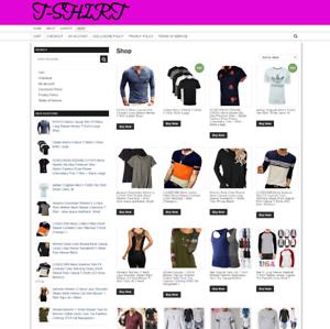 T-SHIRT-UK-WEBSITE-1-YEARS-HOSTING-FULLY-STOCKED-NEW-DOMAIN