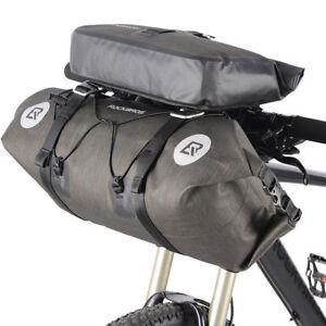 RockBros-Waterproof-Bicycle-Roll-Bag-amp-Handlebar-Bag-Large-Capacity-Black-Gold