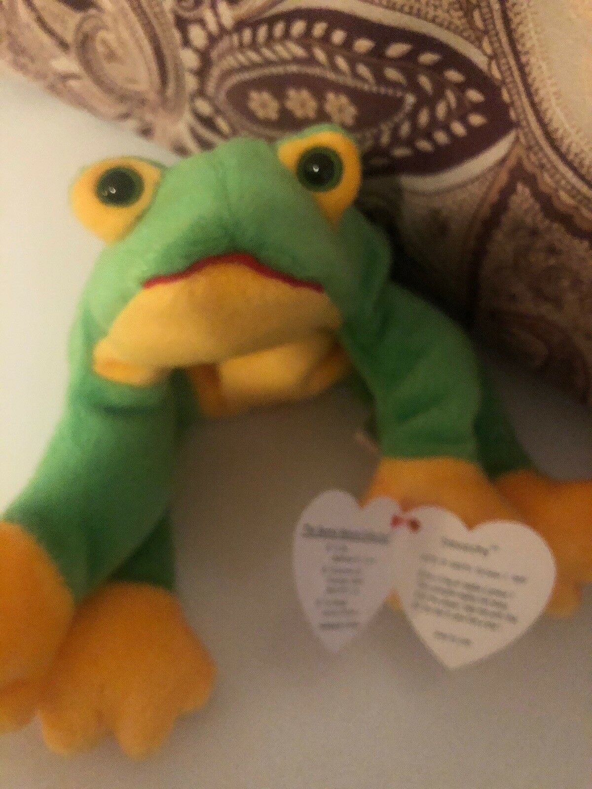 Ty Beanie Baby Smoochy Frog 1997 With Tags Stuffed Plush Plush Plush Toy FREE Shipping 7f7ea3