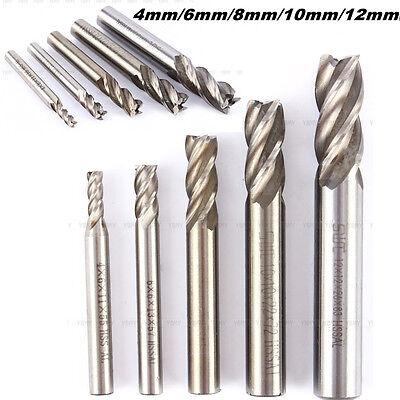 High Quality 4mm-12mm HSS CNC Straight Shank 4 Flute End Mill Cutter Drill Bit