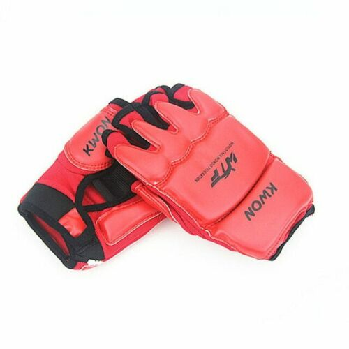 Half Finger Boxing Gloves Kids Age 3-12 Karate Taekwondo Sandbag Mitts Protector