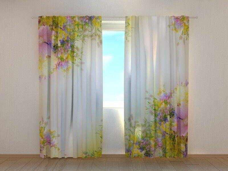 Fotogardinen  FeldBlaumen , Vorhang, Vorhang, Vorhang, Fotovorhang, Maßanfertigung   Schönes Design  986210