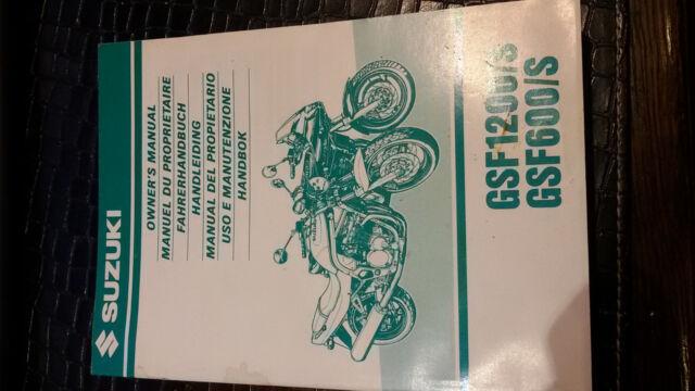Suzuki Gsf 1200 S Und Gsf 600 S Fahrerhandbuch Ebay