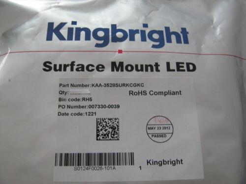 Kingbright LED,BI-Color grün/rot 574nm/650nm,4Pin,KAA-3528SURKCGKC 100 St=7,98 €