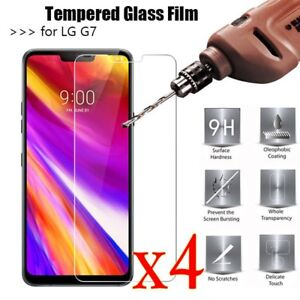 1/2/4X Anti-Scratch 9H Clear Tempered Glass Screen Protector Film For LG G7 TY