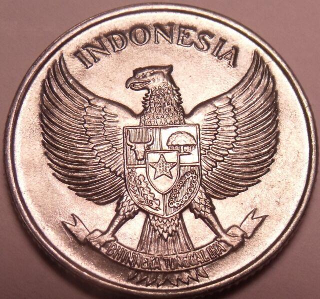 Large Gem Unc Indonesia 1957 25 Sen~Incredible Eagle~Free Shipping
