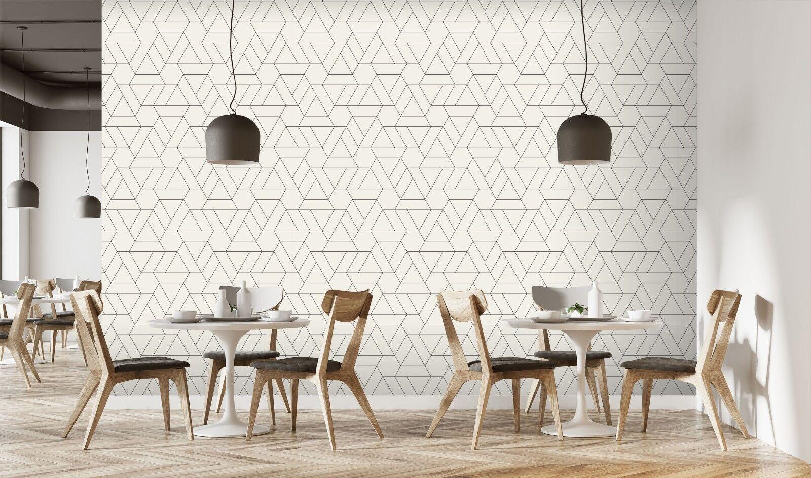 3D Overlapping Hexagon 875 Texture Tiles Marble Wall Paper Decal Wallpaper Mural