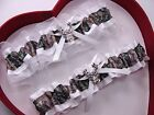 Mossy Oak White Camouflage Camo Wedding Garter Hunting Deer Hunter Chick Prom**