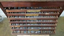 Vintage Letterpress 18 Drawer Type Cabinet With Type