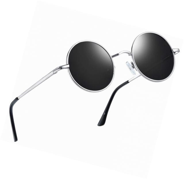 a98ca9d2ad Joopin-round Retro Polaroid Sunglasses Driving Polarized Glasses Men  Steampunk for sale online