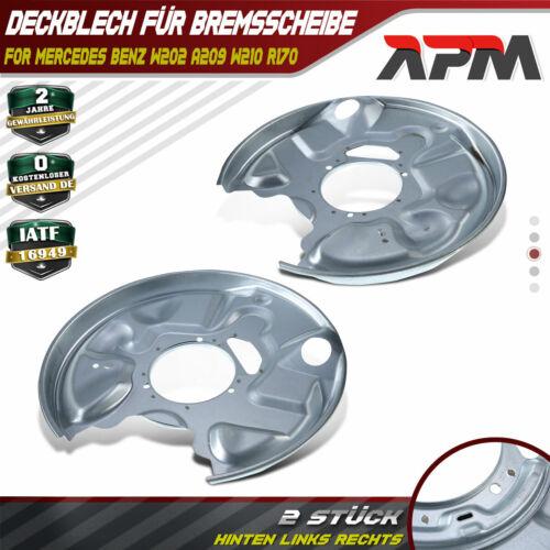 2x Ankerblech für Bremsscheibe hinten rechts links Mercedes Benz W202 W210 R170