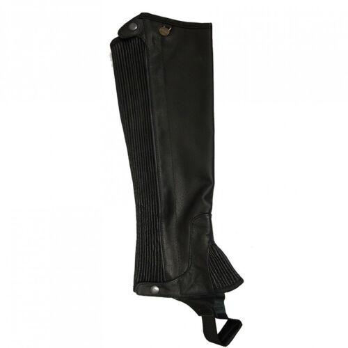 C-SXLG Short X Large Ovation Ladies Half Chaps Pro Top Grain Leather Black