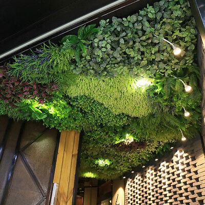 Artificiale Pianta Fogliame Siepe Erba Stuoia Verdura Pannello Parete 60x40cm Supplemento L'Energia Vitale E Il Nutrimento Yin