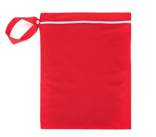 New Waterproof Zip Wet Dry Bag for Baby Infant Cloth Diaper Nappy Pouch Reusable