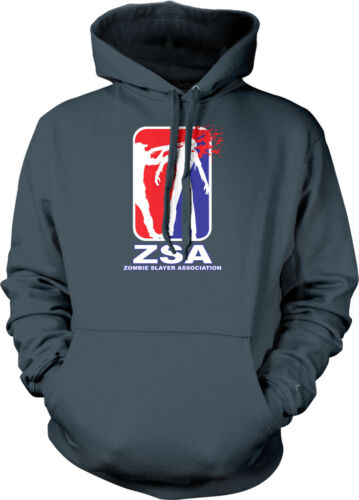 ZSA Zombie Slayer Association Headshot Shotgun Horror Hoodie Pullover