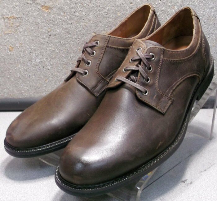 202260 MS50 Men's shoes Size 9 M Brown Leather Lace Up Johnston & Murphy