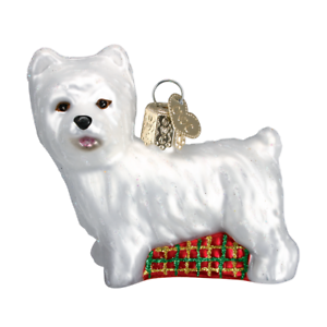Old-World-Christmas-WESTIE-dog-12251-N-Glass-Ornament-w-OWC-Box