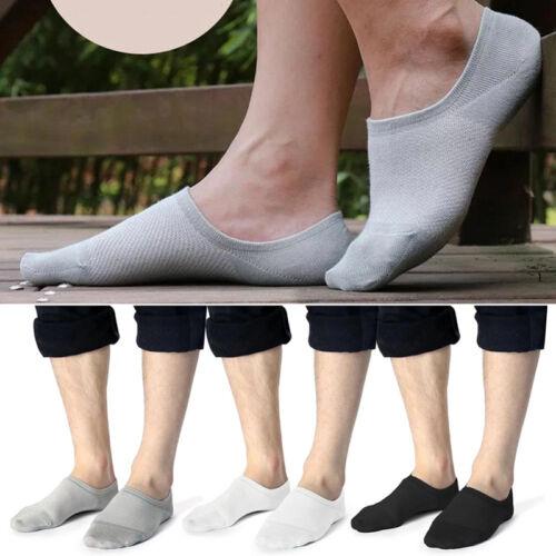 5 Paar Herren Bambusfaser Non Slip Invisible Socken Füßlinge Sneaker Footie U4Q6