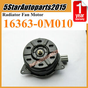 Cooling Fan Motor 16363-0M010 For Toyota Corolla 1ZZFE 3ZZFE Vios1NZFE Camry