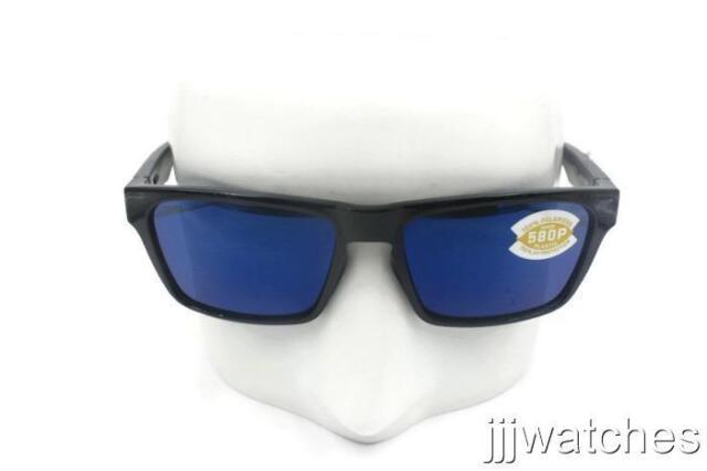 3ca2230de5d New Costa Del Mar HINANO Shiny Black Blue Polarized Sunglasses HNO 11 OBMP   189