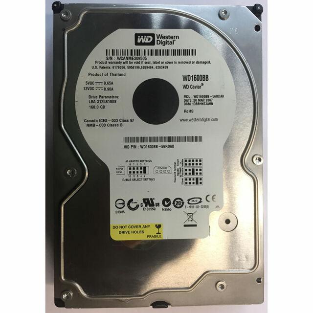 Western Digital 160GB, 7200RPM, IDE - WD1600BB-56RDA0