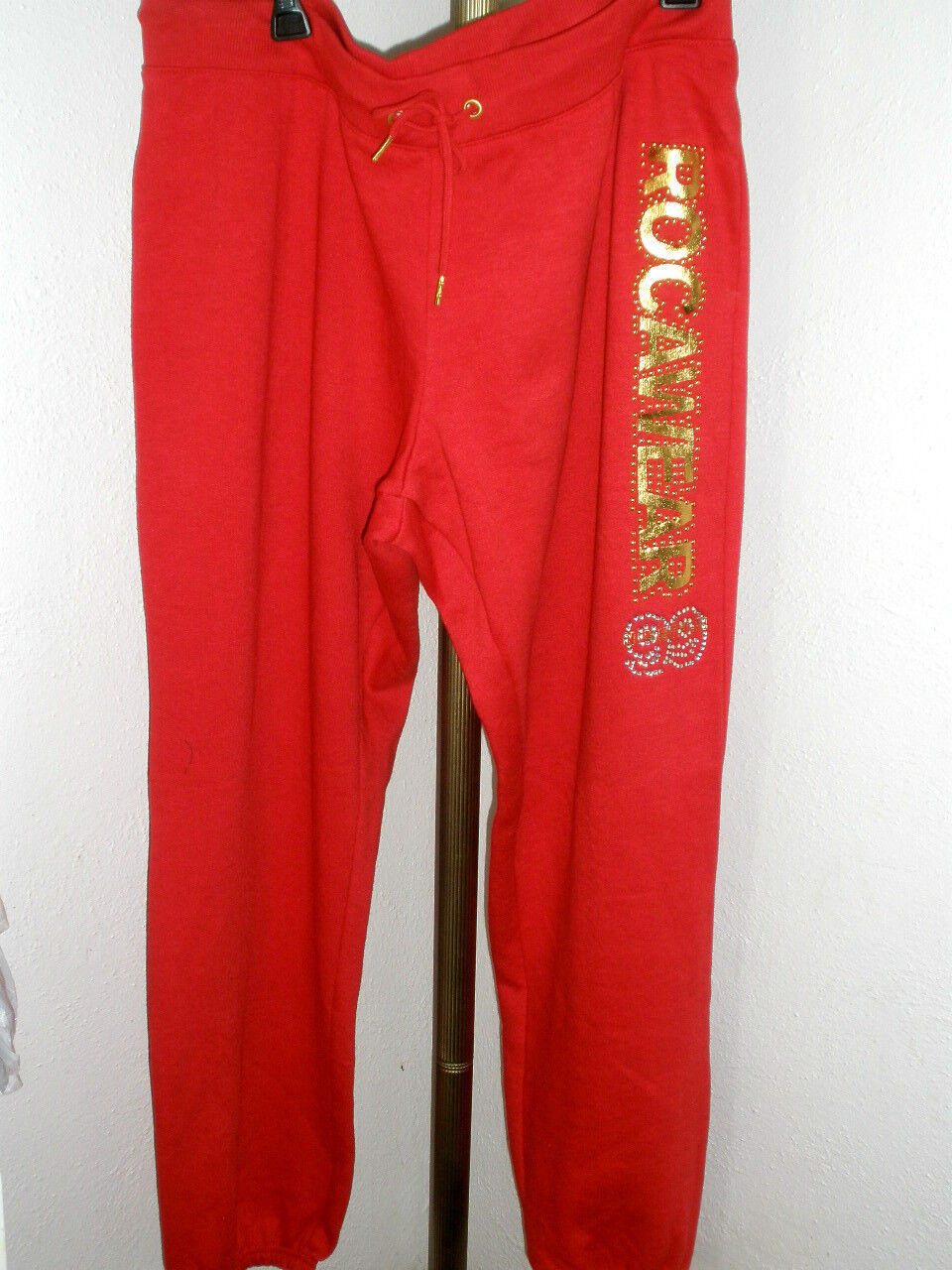 NWT Womens Rocawear Sweat Pants - Red w gold Size 2X (MSRP )