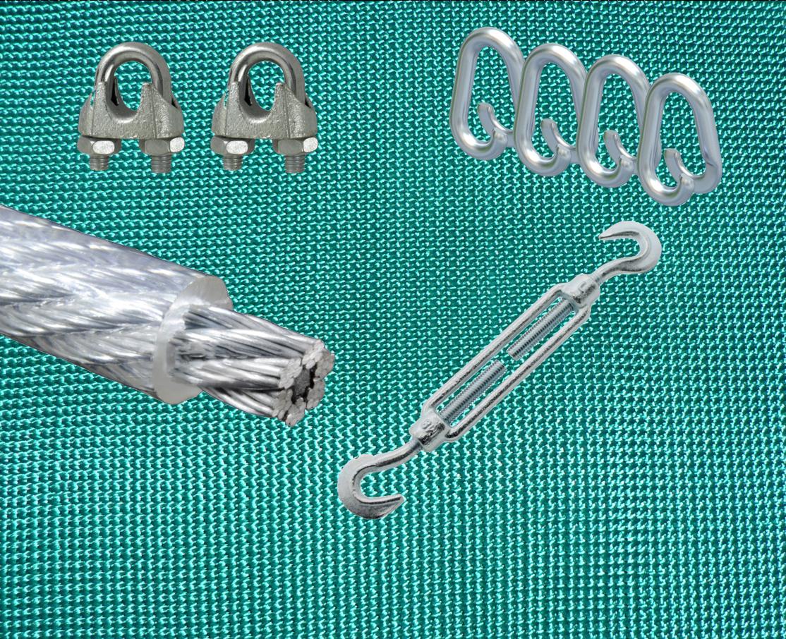 SET: Pfeilfangnetz grün - extra safe - 3m x 3m (B x H) inkl. Zubehör
