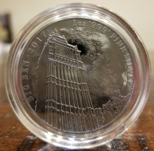 Big Ben Landmark of Britain 2017 1 oz .9999 silver coin 2 pound Brexit Britannia