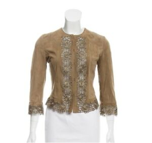 Valentino Floral Roma Embroidered Jacket Leather 88XrYw