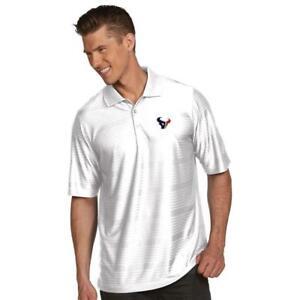Antigua-Houston-Texan-Illusion-Xtra-Lite-Polo-Golf-Shirt-White-Size-XL-S149