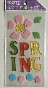 Details About Spring Window Gel Sticker Cling Decorations With Flowers Classroom Decor