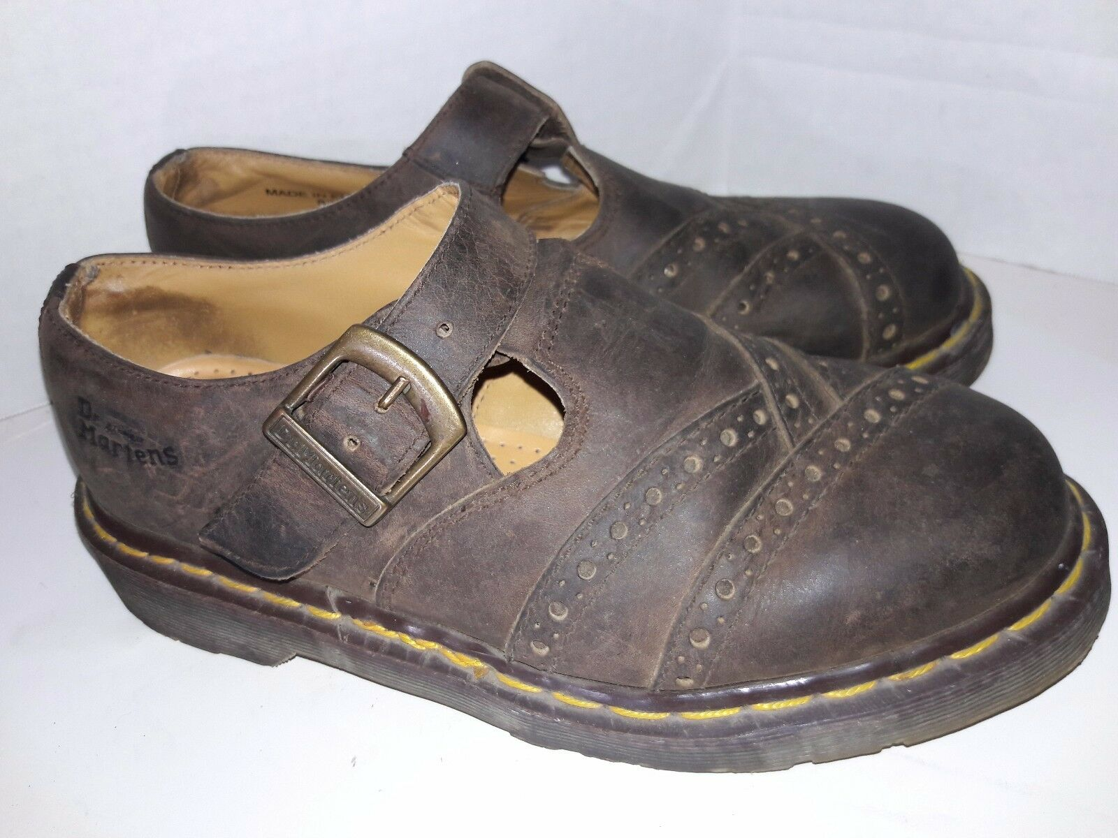 DR  MARTENS OXFORD SHOES BROWN LEATHER MARY JANES uk 5 Size 7.5