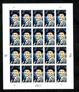 #4266 MNH, DISTINGUISHED AMERICANS-FRANK SINATRA SINGER Sheet, F/V $8.40 (2008)