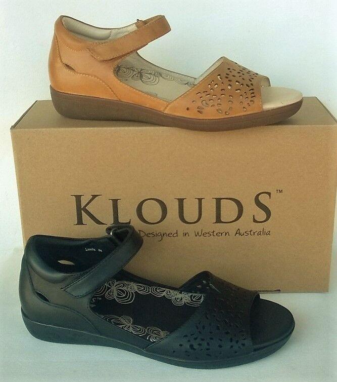 Klouds schuhe - Orthotic friendly comfort Leder Sandales Linda