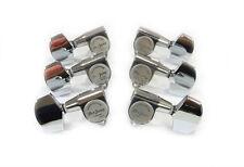 Acoustic Guitar Chrome Machine Head Tuning Pegs 3R3L Metal Button JK5C-M9