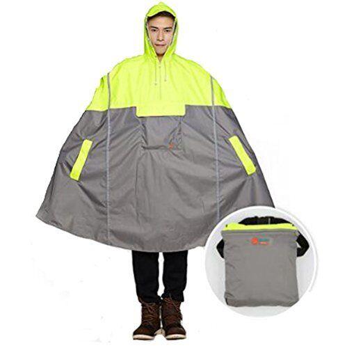SudaTek NEW Lightweight Cycling Rain Poncho Bike Hooded Raincoat Rain Cape Duara