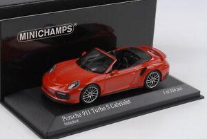 Porsche-911-991-II-Turbo-S-Cabriolet-Indischrot-2016-1-43-Minichamps