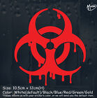 Bloody Zombie Sign reflective funny Car Sticker Truck Window Decal Halloween