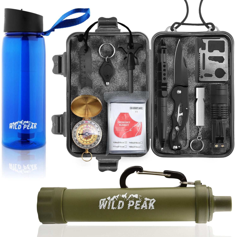 Wild preparar Pico - 1 Kit  De súpervivencia Con Filtro De Agua Botella & Paja Para Cámping  orden ahora disfrutar de gran descuento