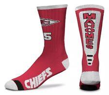 FBF Originals Patrick Mahomes Kansas City Chiefs Big Top Mismatch Mens Dress Socks