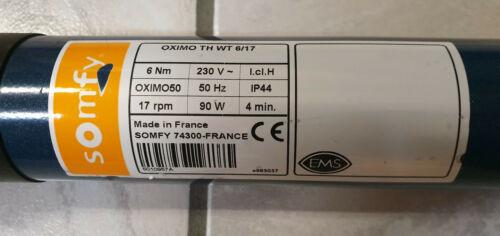 Somfy OXIMO WT 6//17 6 Nm Rollladenmotor Rohrmotor