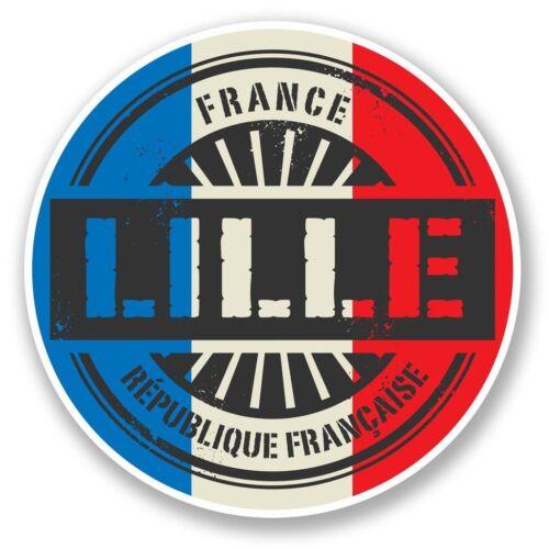 2 x Lille France Vinyl Sticker Laptop Travel Luggage Car #6025