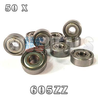 605Z 605ZZ 605 Z 605 ZZ Deep Groove Ball Bearing 5mm x 14mm x 5mm 50 Pcs
